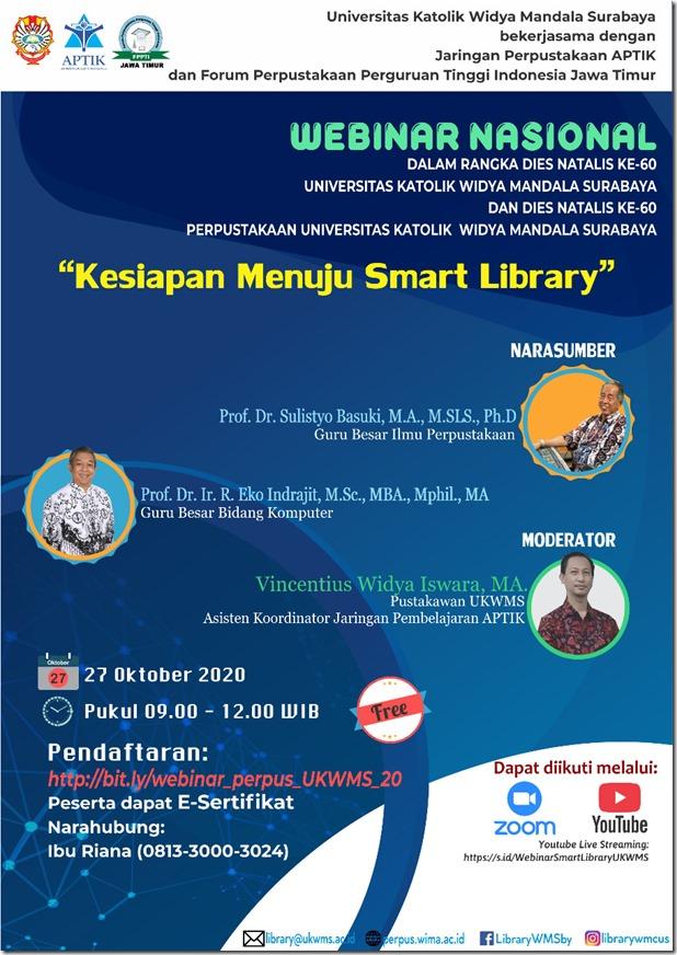 WEBINAR NASIONAL Kesiapan Menuju Smart Library